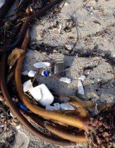 Polystyrene Polution on the Beach Cape Town