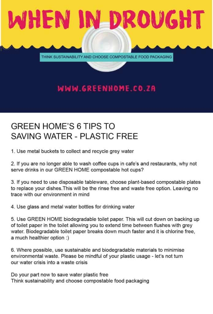 GreenHome Saving water sustainably Poster