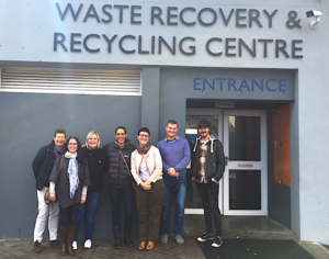 members of the GREEN HOME team with Petro Myburgh in front of the Waste Recovery and Recycling Centre