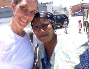Catherine Morris with Mama Mickey in Khayelitsha