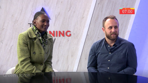 Phindi Dlamini and Guy Cronje from GREEN HOME, on ETV's The Morning Show