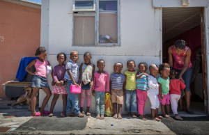 Some of the Yiza Ekhaya children standing outside in Khayelitsha