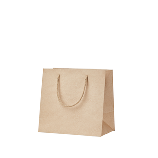 130gsm Kraft Gusseted Bag with Rope Handles