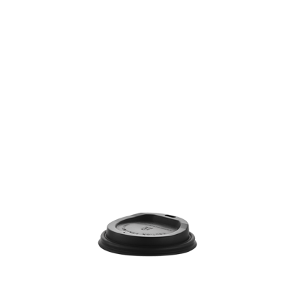 250ml Compostable Black Hot Cup Lid Pack - 50 Units