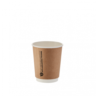 250ml Kraft Double Wall Printed Hot Cup