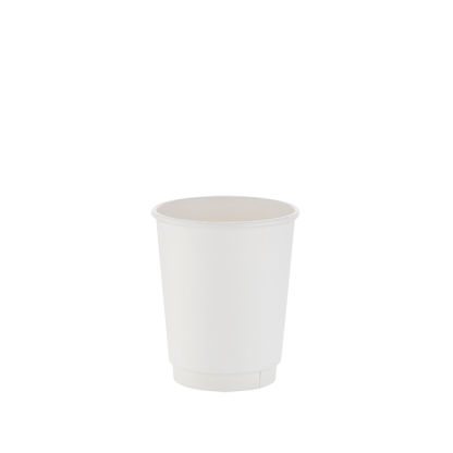 250ml White Double Wall Plain Hot Cup