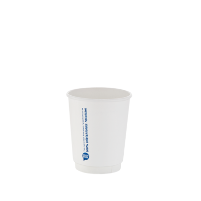250ml White Double Wall Printed Hot Cup