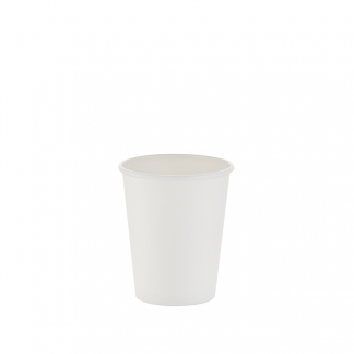 250ml White Single Wall Plain Hot Cup