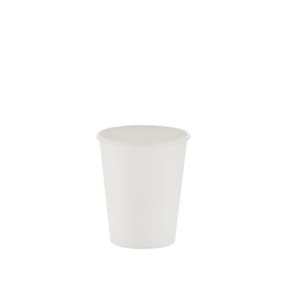 250ml White Single Wall Plain Hot Cup