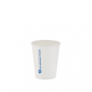 250ml White Single Wall Printed Hot Cup