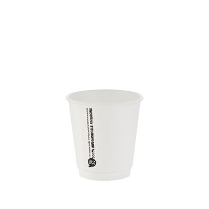 300ml White Double Wall Printed Hot Cup
