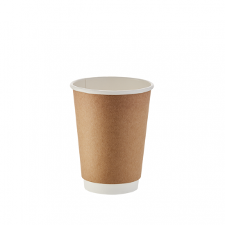 350ml Kraft Double Wall Plain Hot Cup