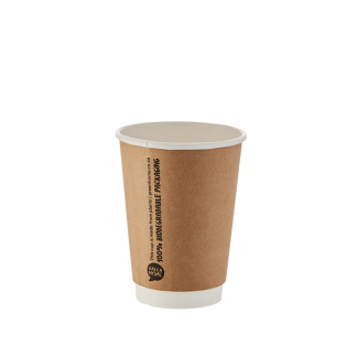350ml Kraft Double Wall Printed Hot Cup