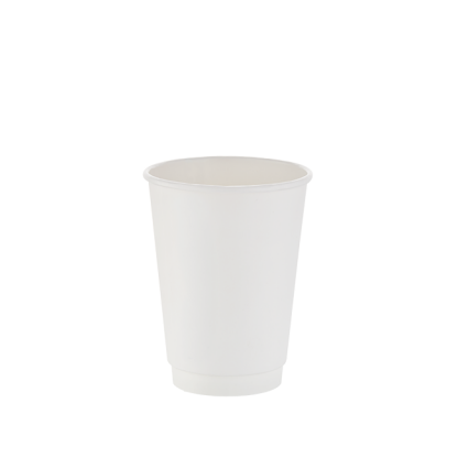 350ml White Double Wall Plain Hot Cup