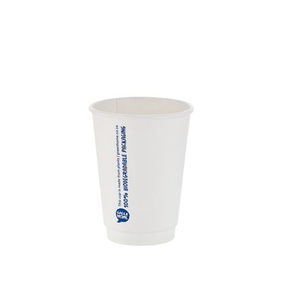 350ml White Double Wall Printed Hot Cup