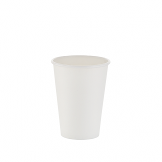 350ml White Single Wall Plain Hot Cup