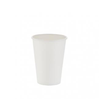 350ml White Single Wall Plain Hot Cup
