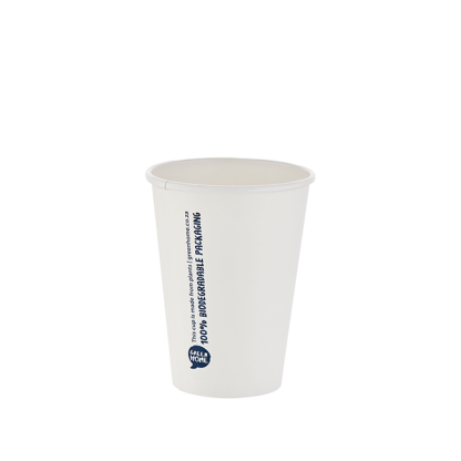 350ml White Single Wall Printed Hot Cup