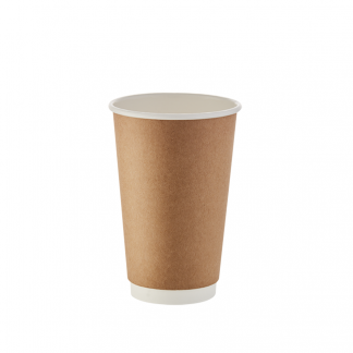 500ml Kraft Double Wall Plain Hot Cup