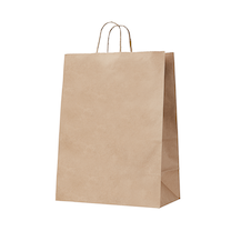 Handypack Kraft Gussetted Bag with Paper Twist Handles