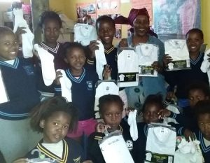 Some of the Yiza kids with their new school clothes