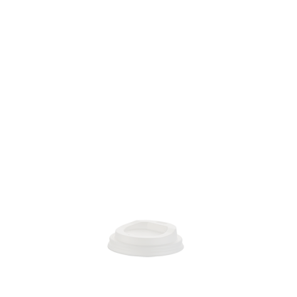 100ml Compostable White Hot Cup Lid