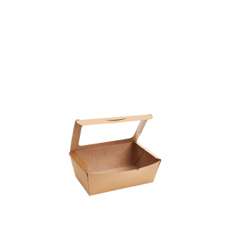 1100ml Kraft Deli Box with PLA Window