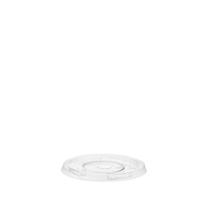 265/350/500ml Clear Compostable PLA Cup Flat Lid