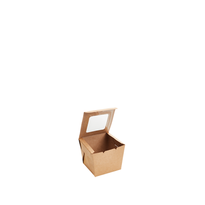 600ml Kraft Muffin Box with PLA Window