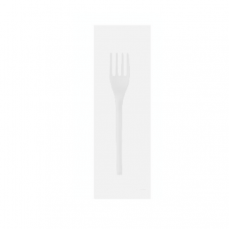 CPLA Fork in a Compostable Bag