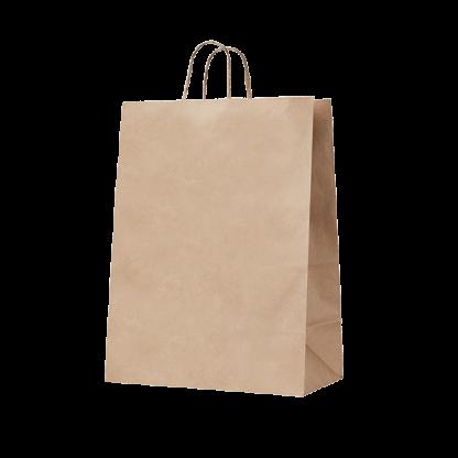 140gsm Handypack Kraft Gusseted Bag with Paper Twist Handles