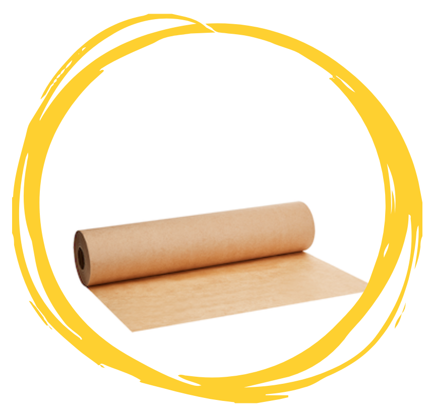 A roll of GREEN HOME greaseproof paper