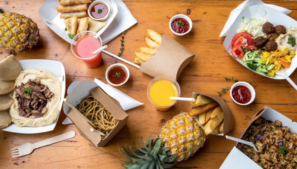 Plastic free takeaway food packaging